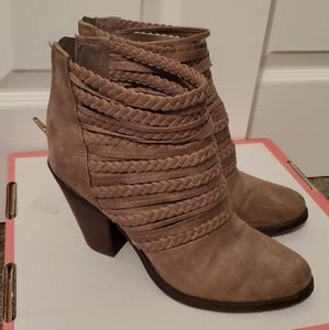 Brown Strap Booties